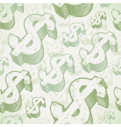 Hand drawn dollar signs vector