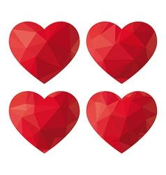 Heart polygon vector