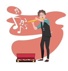 Musician preview vector
