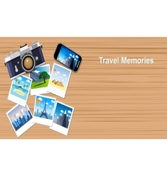 Travel and vacation concept vector