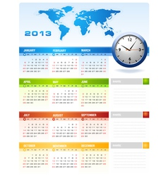 2013 colourful calendar vector