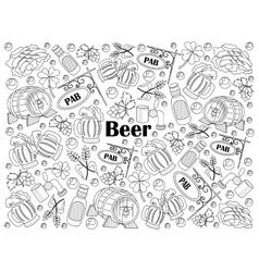 Beer colorless set vector
