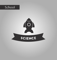 Black and white style icon science vector