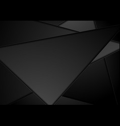 black technology polygon abstract background vector image vector image