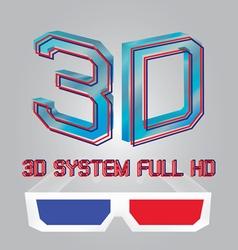 Cinema movie glasses vector image