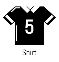 football shirt icon simple black style vector image