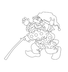 Image of gnome with branch vector image