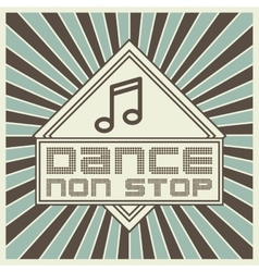 Music note icon music sound and dance design vector