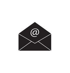 Open mail solid icon representing email envelope vector