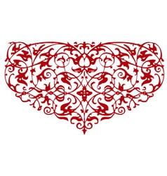 Ornamental heart shape vector
