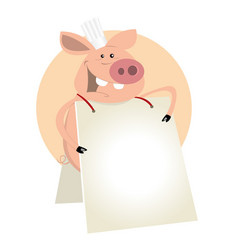 pig cook sign vector image