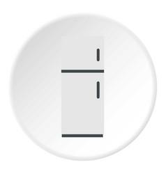 Refrigerator icon circle vector