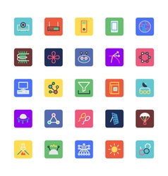 Science and technology colored icons 5 vector