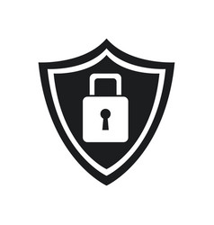 security technology padlock shield internet vector image