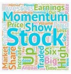 Six keys to find momentum stocks text background vector