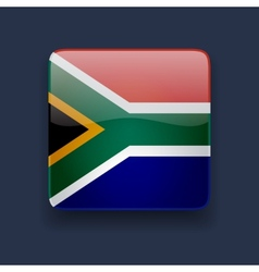 Square icon with flag of south africa vector