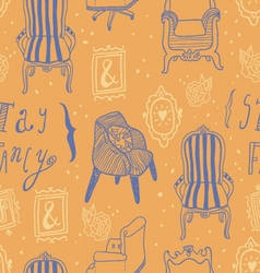 Stay Fancy seamless pattern vector image
