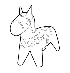 toy horse icon outline style vector image vector image