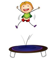 trampoline kid vector image
