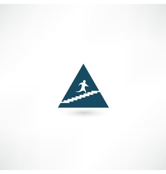Up the pyramid icon vector