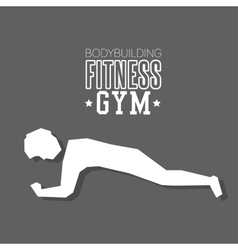 Man exercise hard bodybuilding fitness gym icon vector