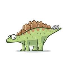 cartoon funny stegosaurus vector image
