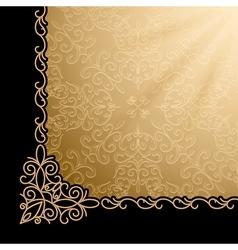 Vintage gold corner background vector image