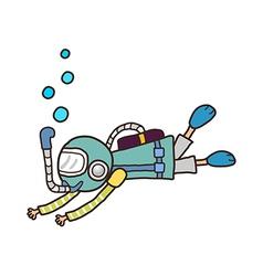 icon scuba diver vector image