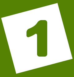 Number 1 sign design template element vector