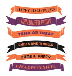 Halloween decorative banners set vector