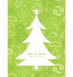 Environmental christmas tree silhouette pattern vector