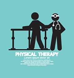 Black symbol physical therapy vector