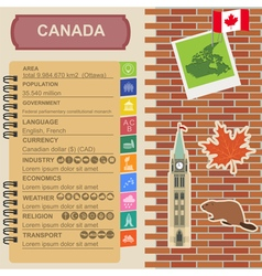 Canada infographics statistical data sights vector