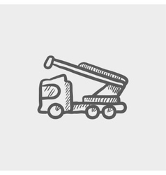 Towing truck sketch icon vector