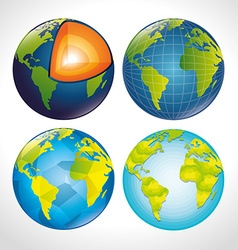 Planet earth design vector