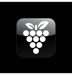 Grape single icon vector