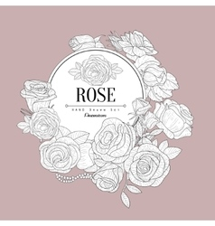 Rose themed vintage sketch vector