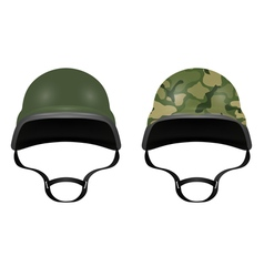 Military helmets isolated on white background vector