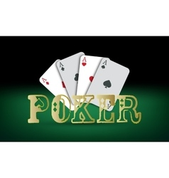 Poker cards casino elements vector