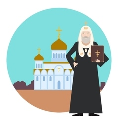 Orthodox church banner4 vector