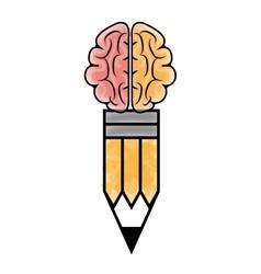 Human brain theme icon design vector