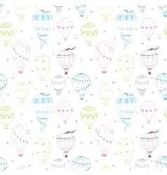 air baloon pattern vector image