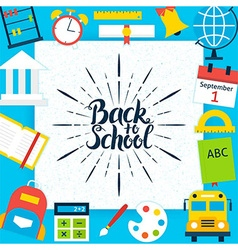 Back to School Paper Template Concept vector image vector image