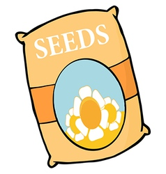 Bag Of Flower Seeds vector image vector image