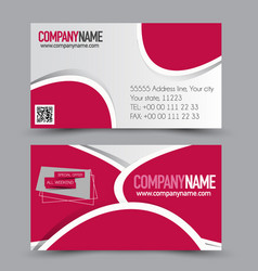 business card design set template vector image vector image