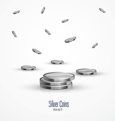 Coins isolated on a white background 2 vector