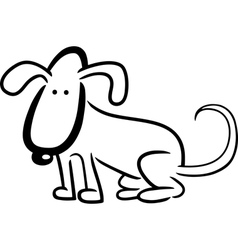 doodle dog for coloring vector image