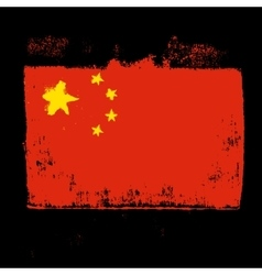 Flag of china on a black background vector