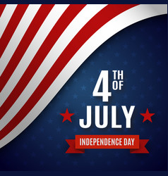 fourth of july greeting card template vector image vector image