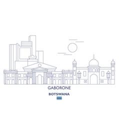 Gaborone linear city skyline vector